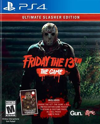 Friday The 13th The Game: Ultimate Slasher PS4 - NEW - FREE USA SHIPPING