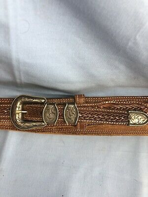 Vintage Vogt Sterling Silver Ranger Set Western Buckle With Belt Size 40