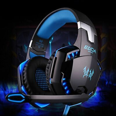 EACH G2000 Pro Game Gaming Headset 3.5mm LED Stereo PC Headphone Microphone SEE2