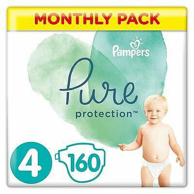 Pampers Pure Protection Size 4 Nappies Mega Saving Pack of 160 Diapers NEW
