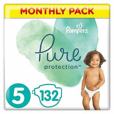 Pampers Pure Protection Size 5 Nappies Mega Saving Pack of 132 Diapers NEW