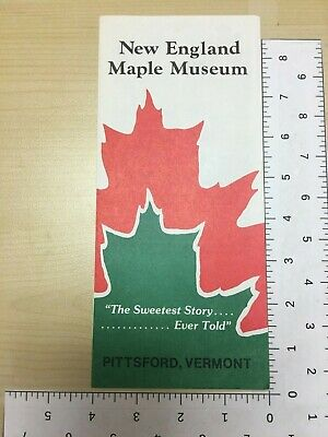 Vintage Travel Brochure New England Maple Museum Pittsford Vermont