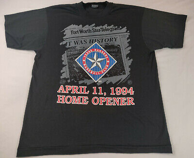 Vintage Ball Park In Arlington Opening Day 1994 Souvenir Tshirt L Texas Rangers
