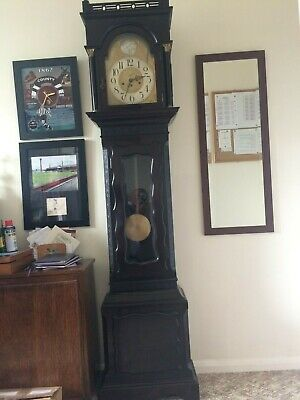 Grandfather Clock 8day Westminster chiming with German Junghans movement