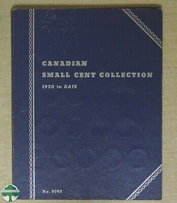 Canadian Small Cent Collection 1920-1966 Whitman Folder No.9062 W/ Some Coins