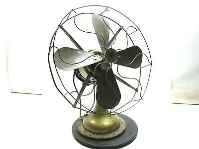 ANTIQUE WESTERN ELECTRIC fan Brass cage and 4 blades Working