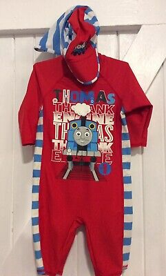 Swimsuit Age 12-18 Months Thomas The Tank Engine  M&S All In One & Swim Sunhat