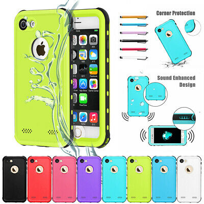 Waterproof Shockproof Hybrid Phone Case Full Cover For iPhone X 7 6s 6 8 5 Plus