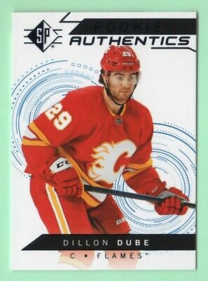 18/19 Sp Dillon Dube Rookie Authentics Blue Foil Card Retail Only