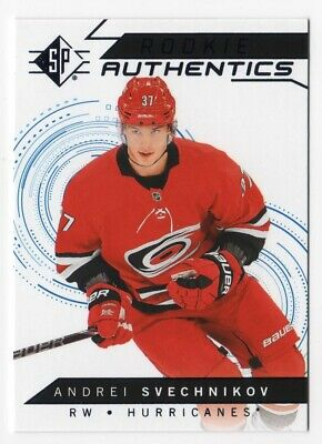 18/19 Sp Andrei Svechnikov Rookie Authentics Blue Foil Card Retail Only