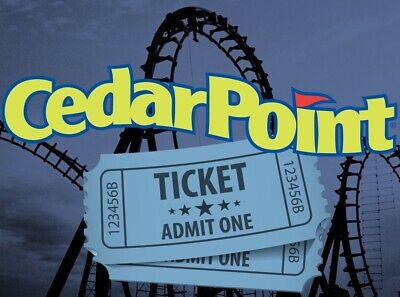 2 CEDAR POINT THEME PARK TICKETS - ADULT OR CHILD - Sandusky, OH