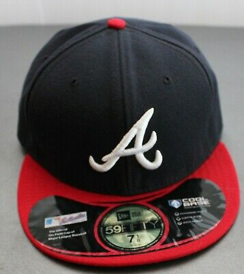 outlet store 5f983 50cfa Atlanta Braves MLB Fitted On-Field Cap Hat New ERA 59 Fifty Cool Base 7