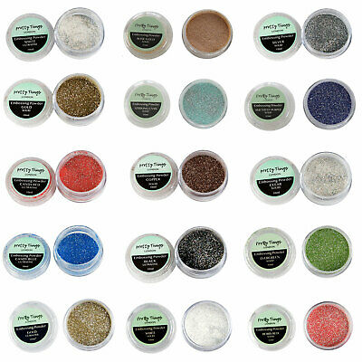 Heat Embossing Powder Glitter Colours Sparkle & Shine 10ml Jars | Pretty Things
