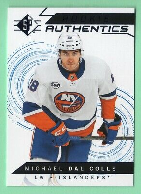 18/19 Sp Michael Dal Colle Rookie Authentics Blue Foil Card Retail Only