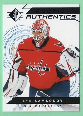 18/19 Sp Ilya Samsonov Rookie Authentics Blue Foil Card Retail Only