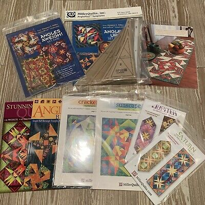 Large Lot Margaret J Miller AnglePlay Templates Patterns Rulers Quilting