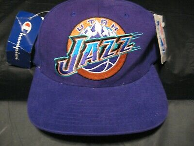 lowest price 4deb7 f7b6e Vintage 90 s NBA Utah Jazz Official Adult One Size Fits Hat Stockton Malone  ...