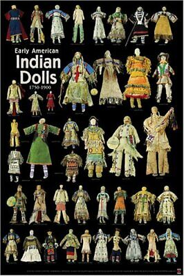 """Poster """"Early American Indian Dolls""""  Native American Dolls From 1775-1890"""