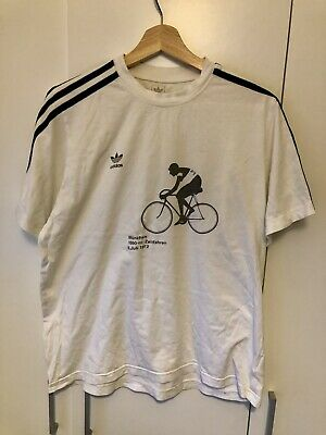 Very Rare Retro Vintage Collectable Adidas Cycling Olympic 1972 T Shirt