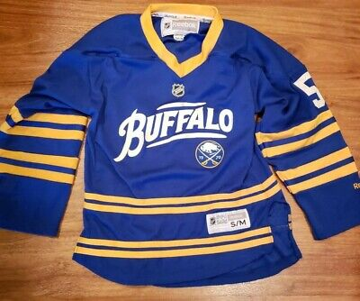 a33fa8344 2000 Buffalo Sabres Jersey Tyler Myers 40th anniversary Reebok Youth S/M
