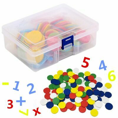 117 Pcs Counters Counting Chips 30mm Mixed Colors Math Toy For Bingo Chips Game