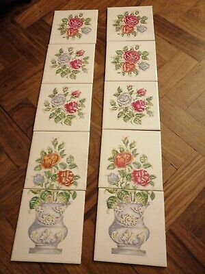 BRAND NEW 10 x Victorian tiles Fireplace tile set Feature tiles
