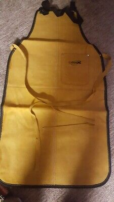 New Calmax Leather Shop Apron Safety Apparel For Welding, Woodworking
