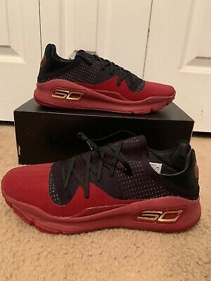 the latest b90c6 1504e UNDER ARMOUR UA Curry 4 Size 14 Red/Black Basketball Shoes ...