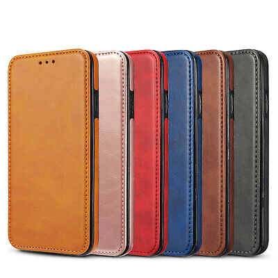 Luxury PU Leather Magnetic Card Slot Stand Case Cover For iPhone XR Xs 7 8 Plus