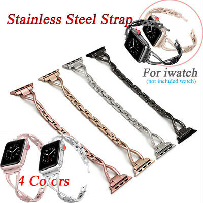 For Apple Watch Series 4 3 2 1 Stainless Steel iWatch Band Strap 38/40/42/44mm X