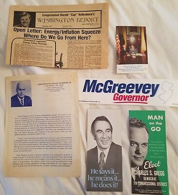 Lot Of 6 New Jersey Political Campaign Fliers Frank Thompson, Mcgreevey,