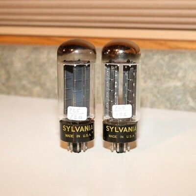 Sylvania Tubes - Black Plates - O Getter - Closely Matched Ribbed Plates