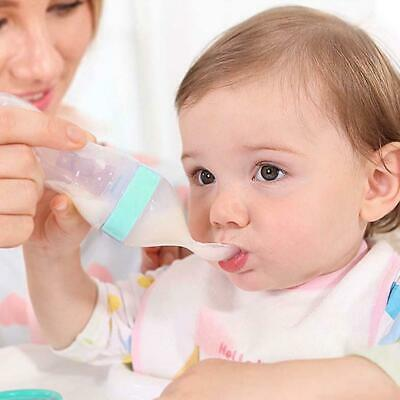 Infant Silicone Feeding With Spoon Feeder Food Rice Cereal Baby -Bottle Safes