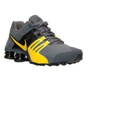 new concept 6e301 72fe3 Nike Shox Current Men s Running Shoes Dark Grey Yellow Black 633631 070