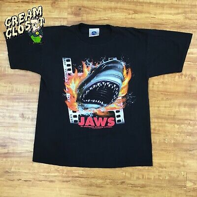 Vintage Jaws Universal Studios Double Sided Movie Promo Tee in Black size XL