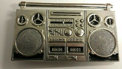 Awesome Vintage Metal Boom Box Belt Buckle Ex Cond