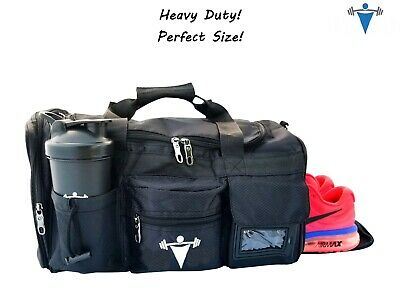 LT Fit Gym Bag Workout Weight Lifting Duffle Travel All Sport Gear With Strap