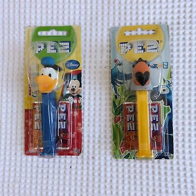 Pez Candy Dispensers x 2 New in Box Donald Duck and Rafael from Rio 2
