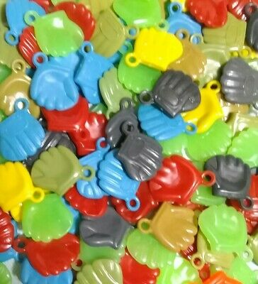 130 Vintage Gumball Charms Baseball Gloves Cracker Jack Prize NOS