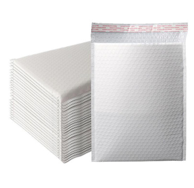 100 EcoSwift 5 x 7 White Small Poly Mailer Size #0 Self Sealing Envelopes Plastic Shipping Mailing Bags 5x7 1.7 mil
