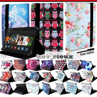 Leather Tablet Stand Flip Cover Case For Amazon Kindle Fire 7/HD 8/ HD 10 alexa
