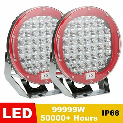 2X 9inch 99999W Led Spot Work Driving Lights OFFROAD Hot Sale Red Lights