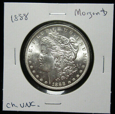 1888 $1 Morgan Silver Dollar. Uncirculated. Fresh & lustrous. (619116)