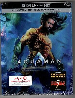 Aquaman 4K Ultra HD + Blu-ray + Digital + 64 Page Book Target Exclusive
