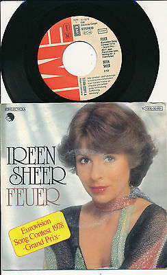 "Eurovision 1978 45 Tours 7"" Germany Ireen Sheer Feuer"