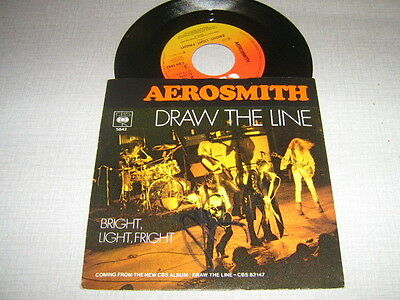 Aerosmith 45 Tours Hollande Draw The Line