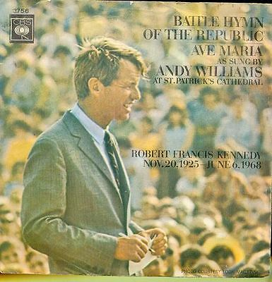 Andy Williams 45 Tours Hollande Robert Kennedy
