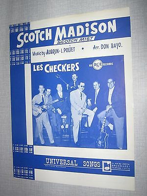 Partition Musicale Belge Les Checkers Scotch Madison 1