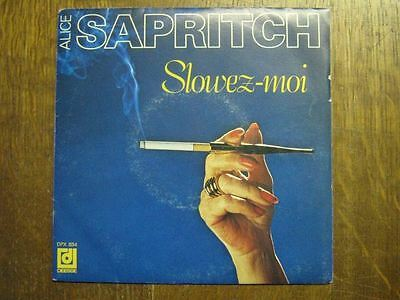 Alice Sapritch 45 Tours France Slowez-Moi