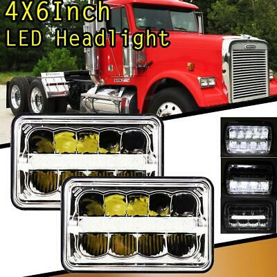"""4X6/"""" 45W LED Headlight Hi//Lo DRL Sealed Beam Projector For H4651 Kenworth"""